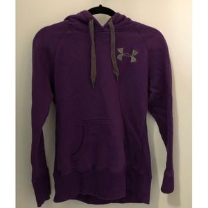 Purple under armour sweatshirt